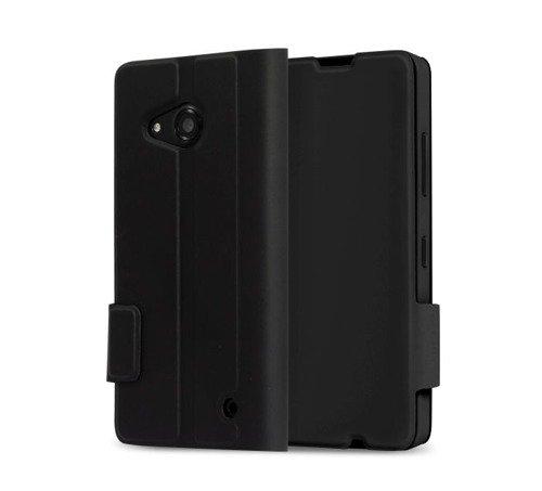 Etui Mozo Flip Cover Czarny do Lumia 550