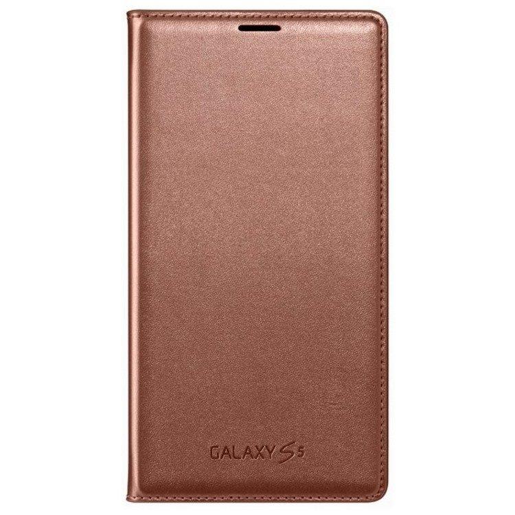 Etui Samsung Flip Wallet Rose Gold do Galaxy S5 EF-WG900BFEGWW